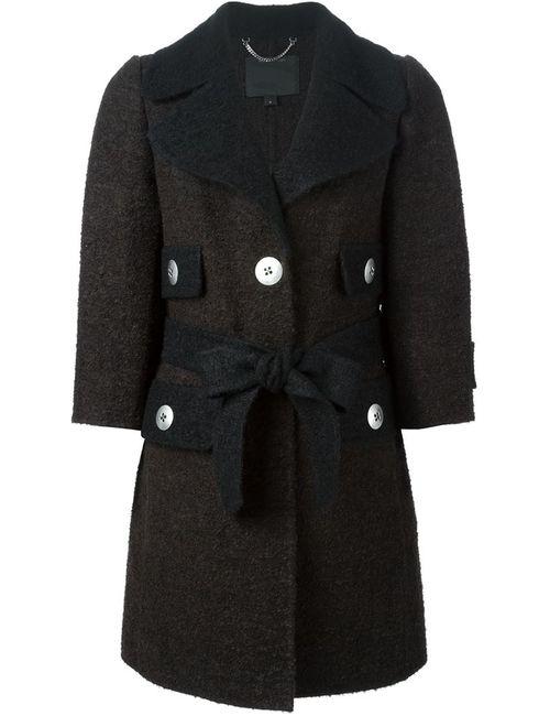 Marc Jacobs | Женское Коричневое Однобортное Пальто С Поясом