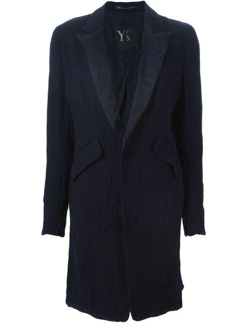 Y'S | Женское Синее Однобортное Пальто