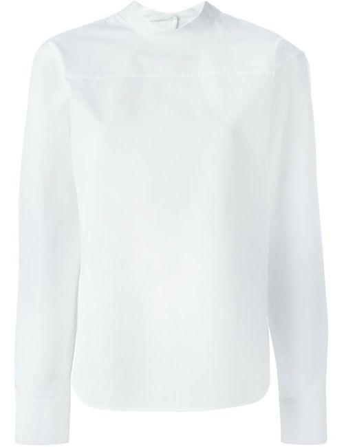 Jil Sander | Женская Белая Блузка С Длинными Рукавами
