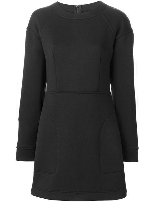 DKNY | Женское Черный Платье-Толстовка