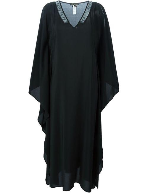 Versace | Женское Чёрное Плаье-Кафтан