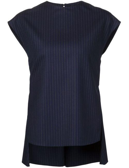 JUAN CARLOS OBANDO | Женское Синий Pinstripe Open Back Top