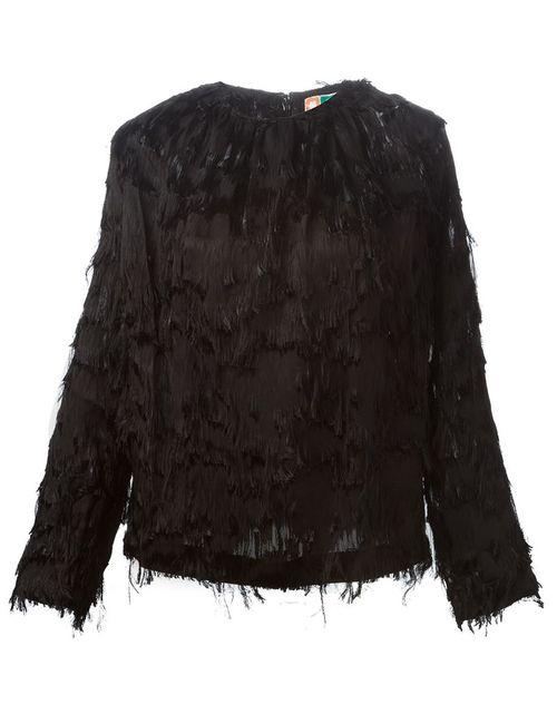 MSGM | Женская Черный Блузка С Бахромой