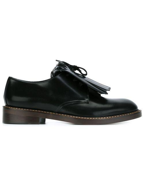 Marni | Женское Чёрный Fringed Lace-Up Shoes