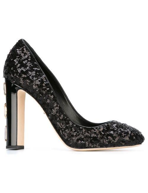 Dolce & Gabbana | Женские Чёрные Туфли Vally