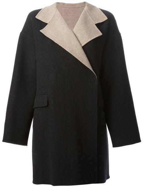 Etro | Женское Чёрное Свободное Короткое Пальто