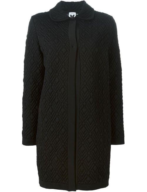 Missoni | Женское Чёрное Жаккардовое Пальто