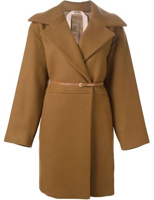 No21 | Женское Коричневое Пальто С Заостренными Лацканами