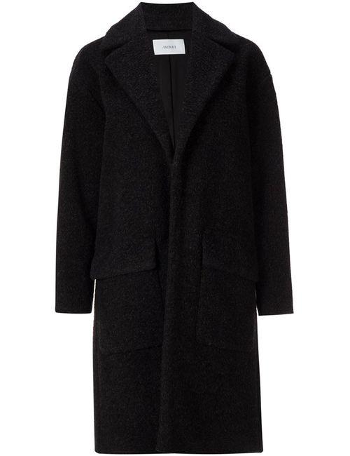 ASTRAET | Женское Серое Пальто С Накладными Карманами
