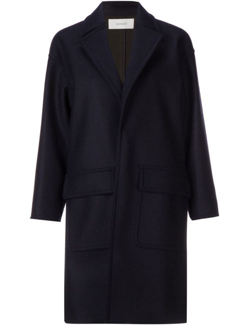 ASTRAET | Женское Синее Пальто Без Застежки