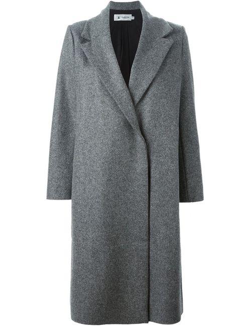 Barena | Женское Серое Пальто С Потайной Застежкой