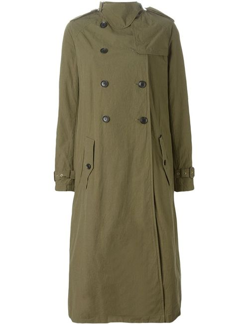Kolor | Женское Зелёное Длинное Пальто-Тренч