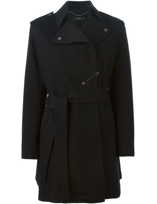 Diesel | Женское Чёрное Пальто W-Ain