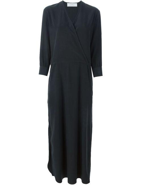 SOCIETE ANONYME | Женское Чёрное Длинное Платье C V-Образным Вырезом