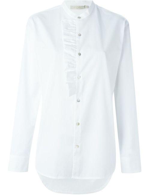 Amen | Женская Белая Рубашка С Рюшами