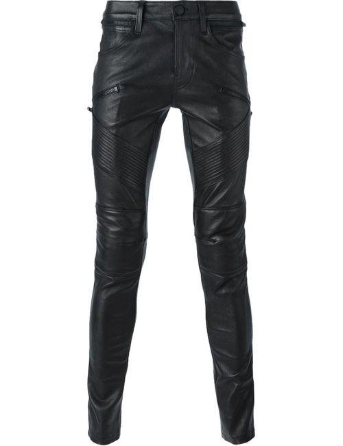 J Brand | Мужские Чёрные Леггинсы С Панельным Дизайном