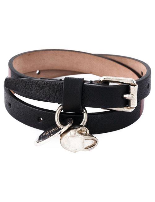 Alexander McQueen | Мужское Черный Wrap Around Skull Bracelet