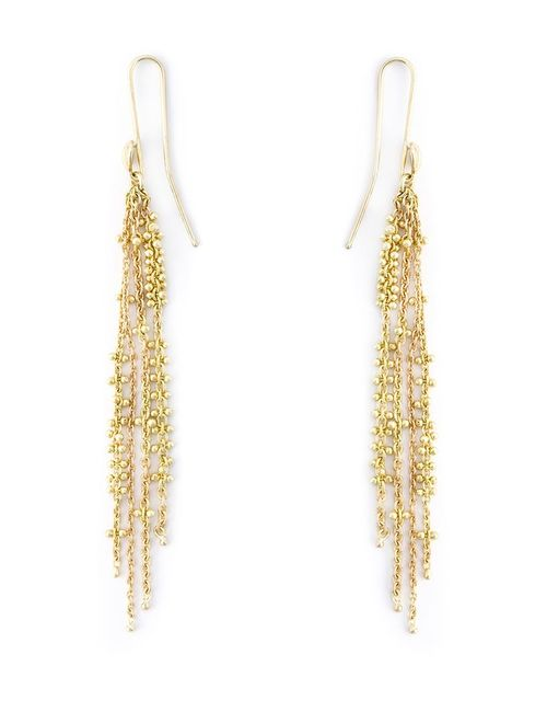 NATASHA COLLIS   Женское Серебристый Waterfall Pin Earrings
