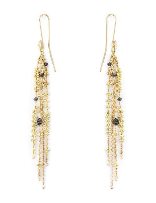 NATASHA COLLIS | Женское Серебристый Diamond Waterfall Earrings
