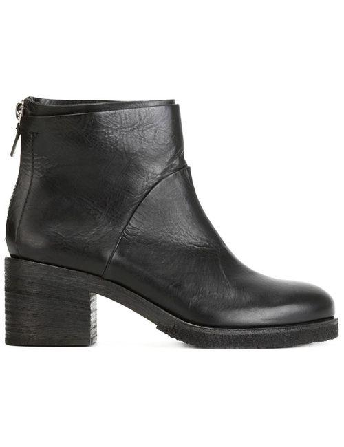 Roberto Del Carlo | Женские Чёрные Ботинки По Щиколотку На Молнии