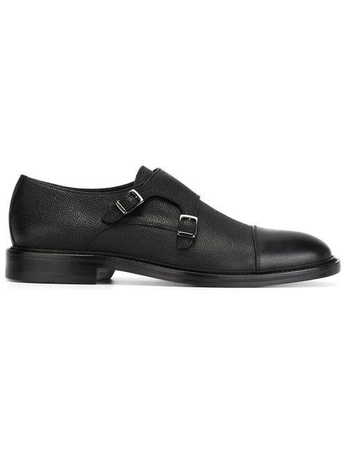 Boss Hugo Boss | Мужские Чёрные Туфли С Ремешешком На Пряжках