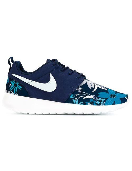 Nike | Женские Синие Кроссовки Rosherun Print