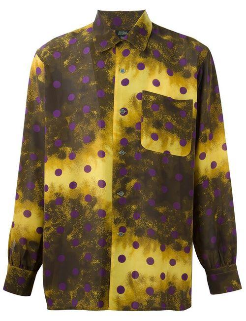JEAN PAUL GAULTIER VINTAGE | Мужская Жёлтая Рубашка В Горошек