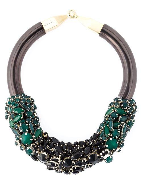 Marni | Женское Зелёный Embellished Necklace