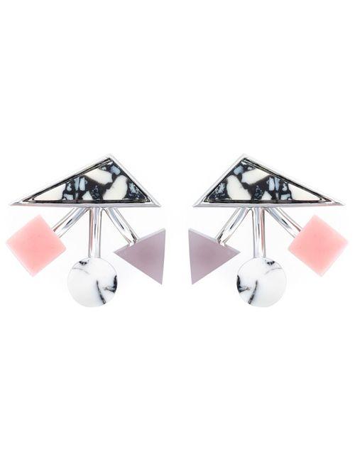 Eshvi | Женское Розовый Geometric Shapes Earrings