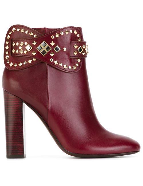 Tory Burch | Женские Красные Ботинки По Щиколотку Kingsbridge