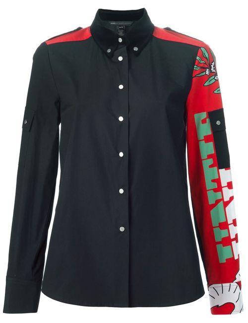 Marc by Marc Jacobs | Женская Чёрная Рубашка С Панельным Дизайном