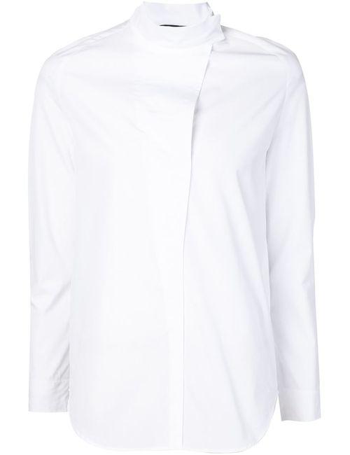 Cedric Charlier | Женская Белая Рубашка С Воротником-Стойкой