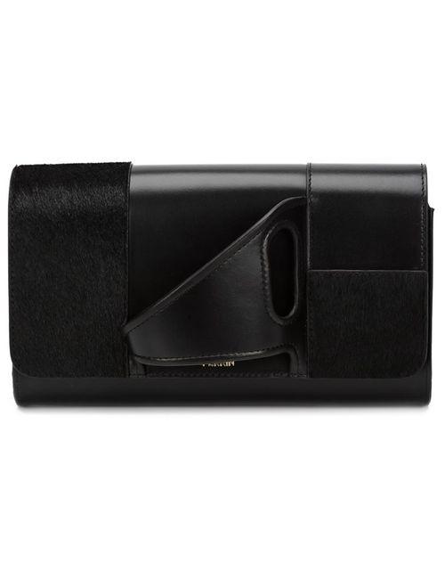 PERRIN PARIS | Женский Чёрный Асимметричный Клатч Glove