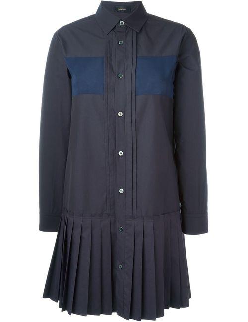 Undercover | Женская Синяя Рубашка С Плиссированным Подолом