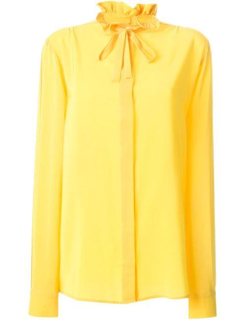 MSGM | Женская Жёлтая Рубашка С Бантом