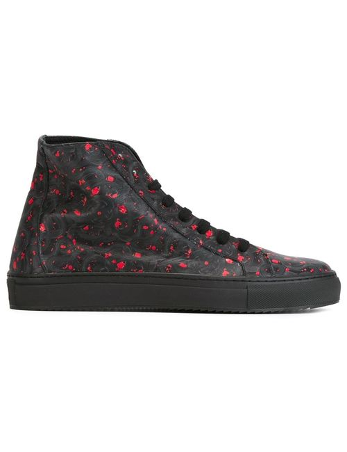 MARCELO BURLON COUNTY OF MILAN | Мужское Черный Snake Print Hi-Top Sneakers