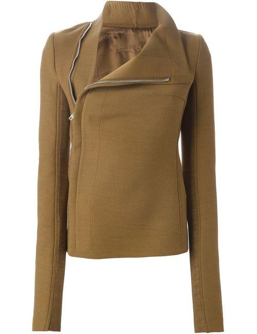 Rick Owens | Женская Коричневая Куртка С Драпированный Воротником