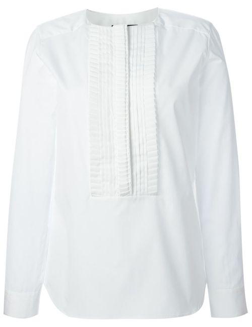 Etro | Женская Белая Блузка С Нагрудником