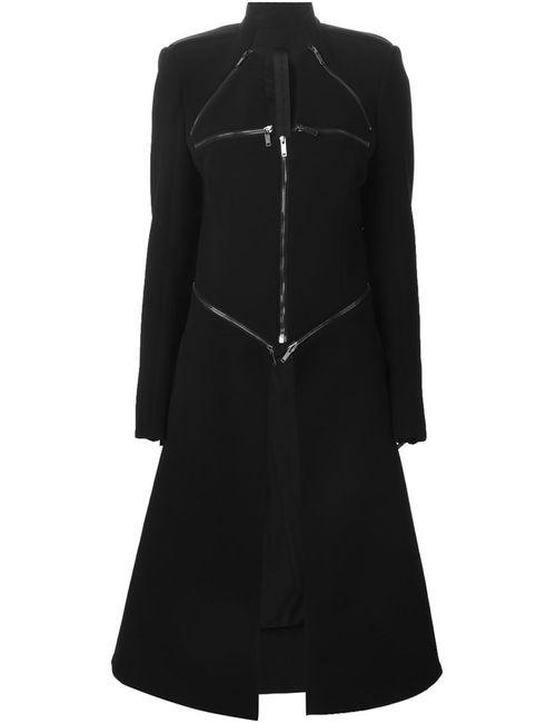 Gareth Pugh | Женское Чёрное Пальто Со Съемной Панелью