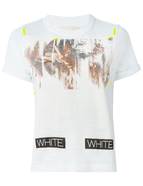 OFF-WHITE | Женское Белый Faded Painting T-Shirt