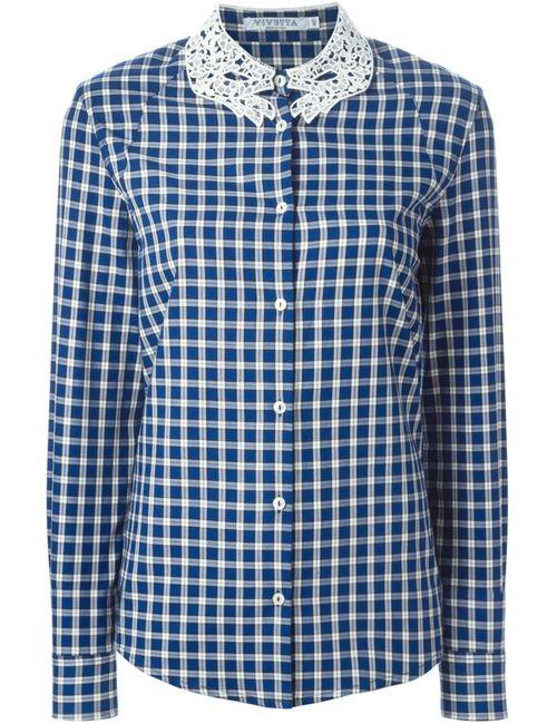 Vivetta | Женская Синяя Рубашка В Клетку