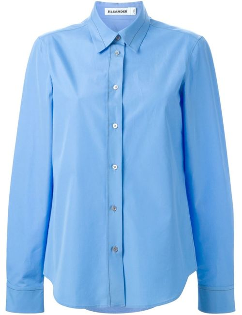Jil Sander | Женское Синий Contrast Stitch Shirt
