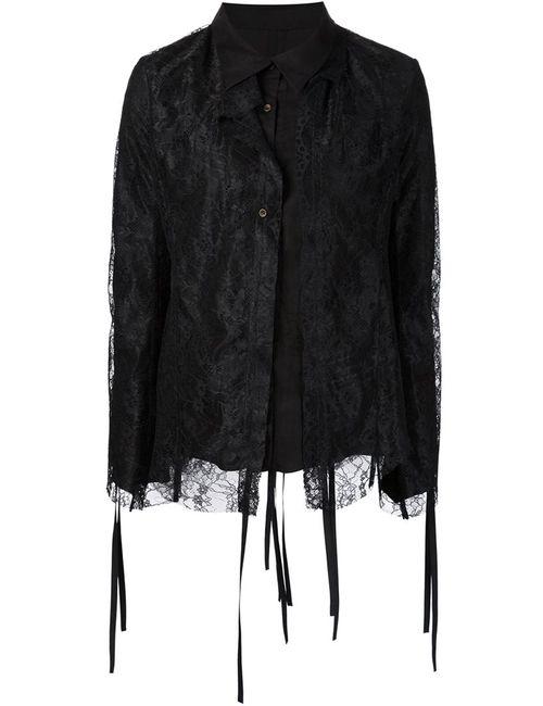 DEEP MOSS | Женская Чёрная Кружевная Рубашка