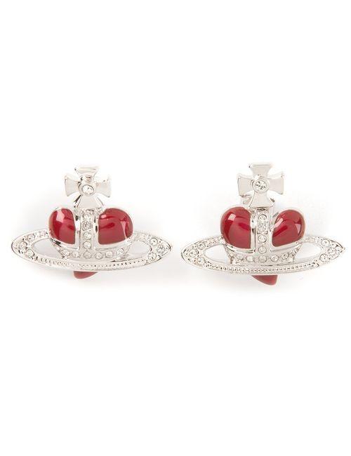 Vivienne Westwood | Женское Серебристый Heart Orbit Earrings