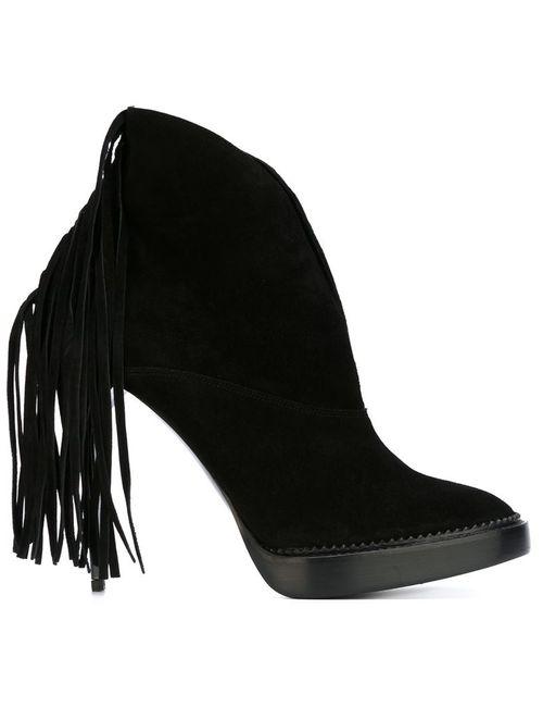 Burberry Prorsum | Женское Чёрный Fringed Stiletto Booties