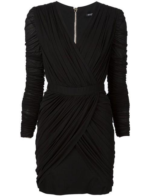 Balmain | Женское Чёрный Draped Mini Dress