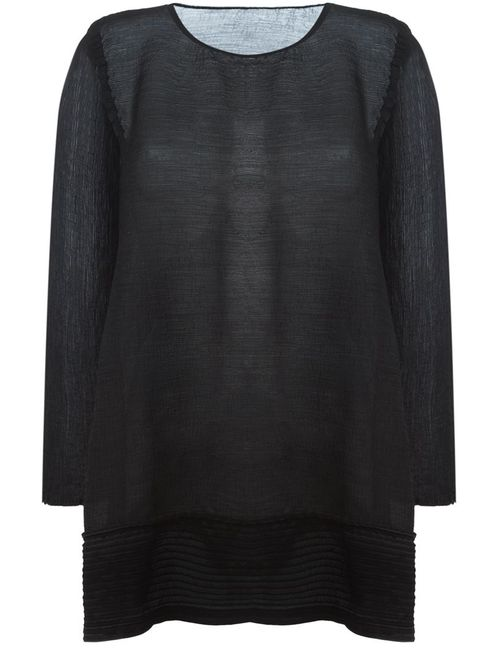 Issey Miyake Cauliflower | Женское Чёрный Loose Fit Long Sleeve Blouse