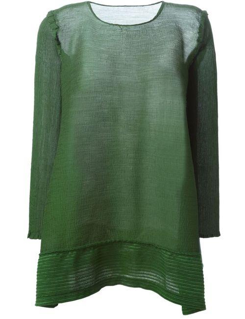 Issey Miyake Cauliflower | Женское Зелёный Loose Fit Long Sleeve Blouse
