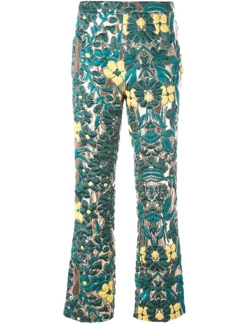 GIULIETTA NEW YORK | Женское Зелёный Brocade Trousers
