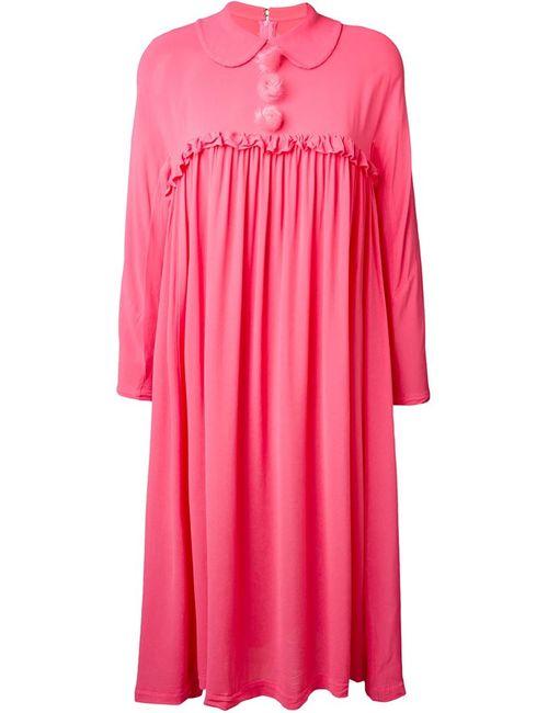 Comme Des Garcons | Женское Розовое Платье-Рубашка Со Сборками